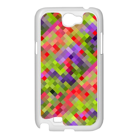 Colorful Mosaic Samsung Galaxy Note 2 Case (White)