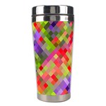 Colorful Mosaic Stainless Steel Travel Tumblers Right