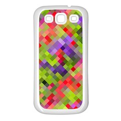 Colorful Mosaic Samsung Galaxy S3 Back Case (White)