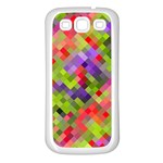Colorful Mosaic Samsung Galaxy S3 Back Case (White) Front