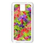 Colorful Mosaic Samsung Galaxy Note 3 N9005 Case (White) Front