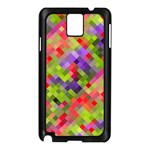Colorful Mosaic Samsung Galaxy Note 3 N9005 Case (Black) Front