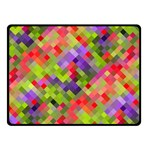 Colorful Mosaic Double Sided Fleece Blanket (Small)  50 x40 Blanket Back