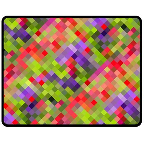 Colorful Mosaic Double Sided Fleece Blanket (Medium)