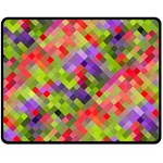 Colorful Mosaic Double Sided Fleece Blanket (Medium)  60 x50 Blanket Back