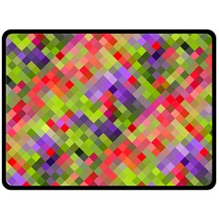 Colorful Mosaic Double Sided Fleece Blanket (large)