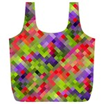 Colorful Mosaic Full Print Recycle Bags (L)  Back