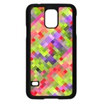 Colorful Mosaic Samsung Galaxy S5 Case (Black) Front