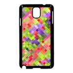 Colorful Mosaic Samsung Galaxy Note 3 Neo Hardshell Case (Black) Front