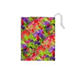 Colorful Mosaic Drawstring Pouches (Small)  Front