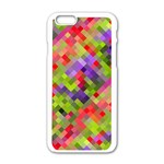 Colorful Mosaic Apple iPhone 6/6S White Enamel Case Front