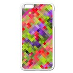 Colorful Mosaic Apple iPhone 6 Plus/6S Plus Enamel White Case Front
