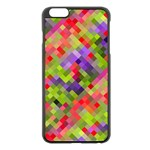 Colorful Mosaic Apple iPhone 6 Plus/6S Plus Black Enamel Case Front