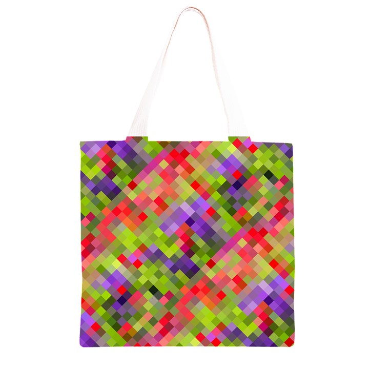 Colorful Mosaic Grocery Light Tote Bag