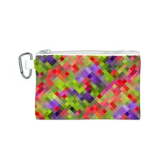 Colorful Mosaic Canvas Cosmetic Bag (S)