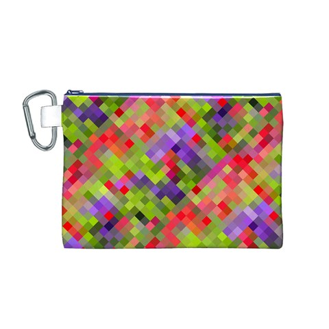 Colorful Mosaic Canvas Cosmetic Bag (M)