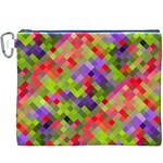 Colorful Mosaic Canvas Cosmetic Bag (XXXL) Front