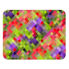 Colorful Mosaic Double Sided Flano Blanket (Large)