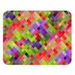 Colorful Mosaic Double Sided Flano Blanket (Large)  80 x60 Blanket Front