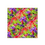 Colorful Mosaic Satin Bandana Scarf Front