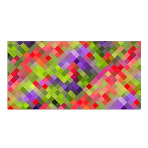 Colorful Mosaic Satin Shawl