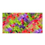 Colorful Mosaic Satin Wrap Front