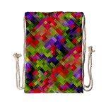Colorful Mosaic Drawstring Bag (Small) Front
