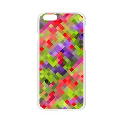 Colorful Mosaic Apple Seamless iPhone 6/6S Case (Transparent)