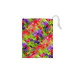 Colorful Mosaic Drawstring Pouches (XS)  Front