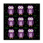 Halloween purple owls pattern Tile Coasters Front