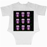 Halloween purple owls pattern Infant Creepers Back