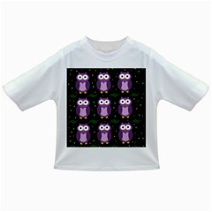 Halloween Purple Owls Pattern Infant/toddler T Shirts