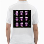 Halloween purple owls pattern Golf Shirts Back