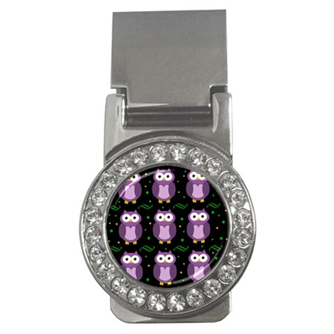 Halloween purple owls pattern Money Clips (CZ)