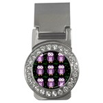 Halloween purple owls pattern Money Clips (CZ)  Front