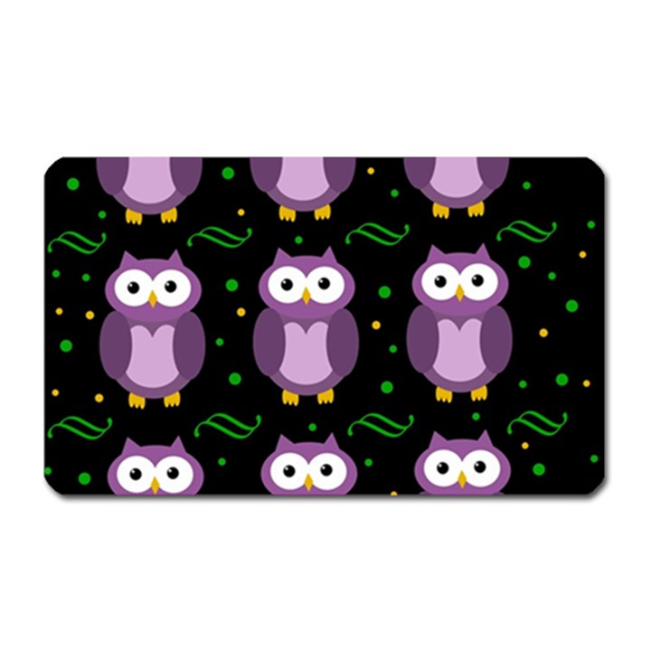 Halloween purple owls pattern Magnet (Rectangular)
