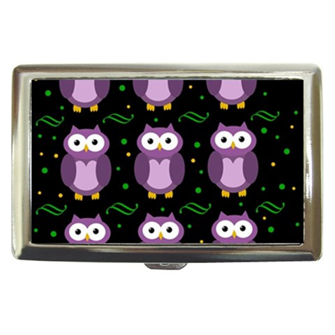 Halloween purple owls pattern Cigarette Money Cases