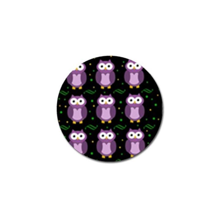 Halloween purple owls pattern Golf Ball Marker (4 pack)