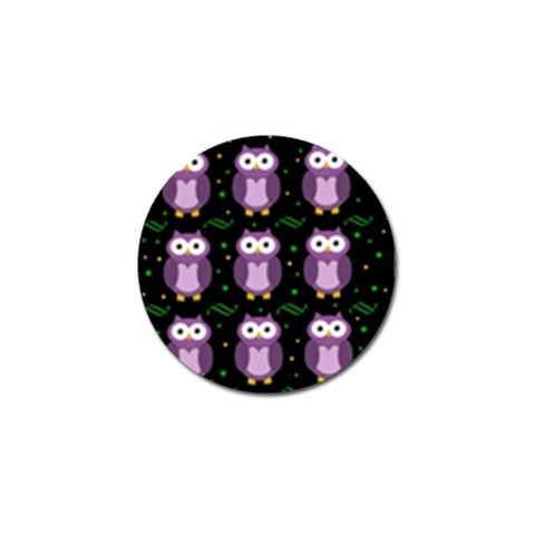 Halloween purple owls pattern Golf Ball Marker (10 pack)