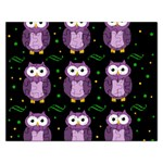 Halloween purple owls pattern Rectangular Jigsaw Puzzl Front