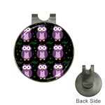 Halloween purple owls pattern Hat Clips with Golf Markers Front