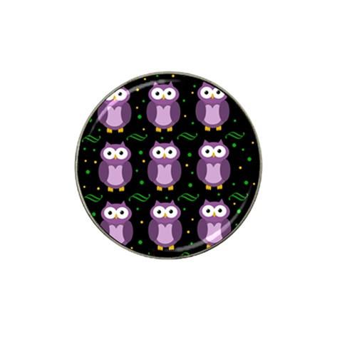 Halloween purple owls pattern Hat Clip Ball Marker
