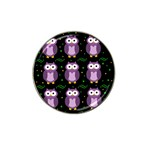 Halloween purple owls pattern Hat Clip Ball Marker (10 pack) Front