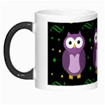 Halloween purple owls pattern Morph Mugs Left
