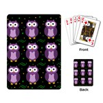 Halloween purple owls pattern Playing Card Back