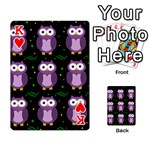 Halloween purple owls pattern Playing Cards 54 Designs  Front - HeartK
