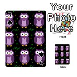 Halloween purple owls pattern Playing Cards 54 Designs  Front - Spade7