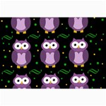 Halloween purple owls pattern Collage Prints 18 x12 Print - 1