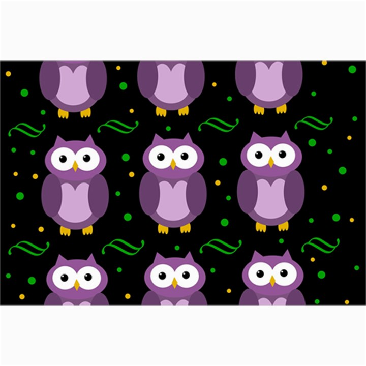 Halloween purple owls pattern Collage Prints
