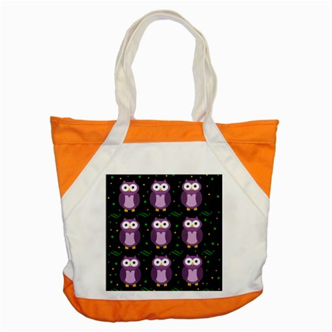 Halloween purple owls pattern Accent Tote Bag